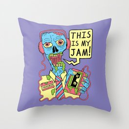 This Is My Jam (Zombie) Throw Pillow