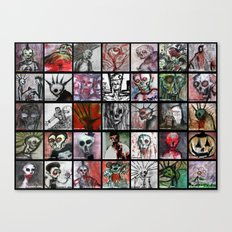 Wall of Horror Canvas Print