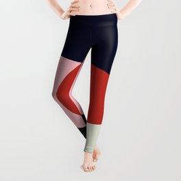 Circle Series - Red Circle No. 1 Leggings