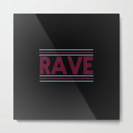 rave prism logo Metal Print