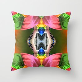 Pink Pods Throw Pillow