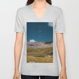 Sunny Afternoon in Colorado Mountains - Mt. Bross 3 Unisex V-Neck