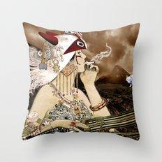 Chasing Smoke - Princess Mononoke Nouveau Throw Pillow