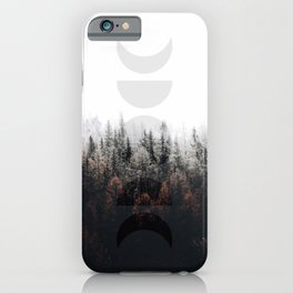 Moon Phases Forest iPhone Case