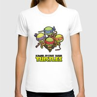 ninja turtles T-shirts featuring Kawaii Mutant Ninja Turtles by Squid&Pig