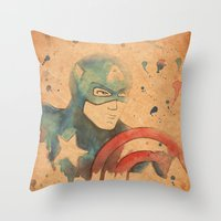 soldier Throw Pillows featuring Soldier by Sarah J