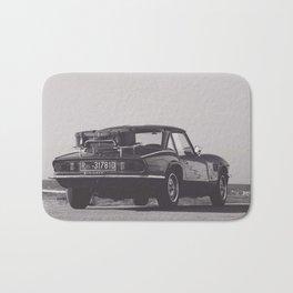 Supercar details, british triumph spitfire, black & white, high quality fine art print, classic car Bath Mat