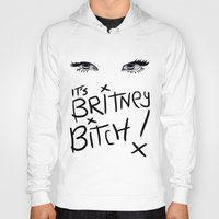 britney spears Hoodies featuring Britney Spears Eyes by Alli Vanes