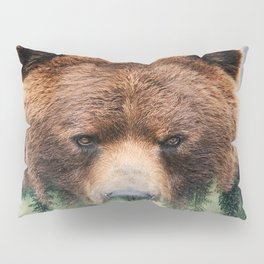Grizzly Wood Pillow Sham