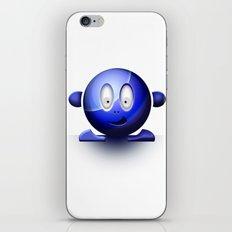 Emoticon Blue iPhone & iPod Skin