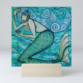 Turquoise Mermaid Mini Art Print