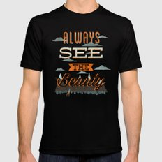 Always See The Beauty Mens Fitted Tee SMALL Black