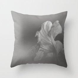 Nasturtium Portrait - Flower Photography Throw Pillow