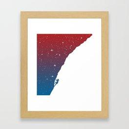 Night climbing II Framed Art Print