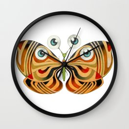 four eyes butterfly (ORIGINAL SOLD). Wall Clock