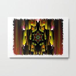 Dark mandala pattern Metal Print