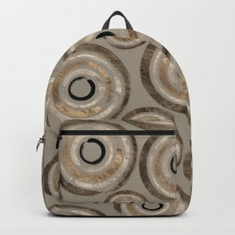 Enso Circles - Zen Circles Pastel Gold Backpack