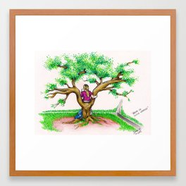 ME ON A SCHOOL TREE - 1994 Framed Art Print