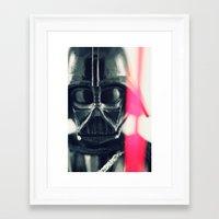 vader Framed Art Prints featuring Vader by Fanboy30