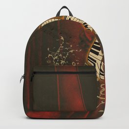 Music, piano with clef and key notes, Backpack
