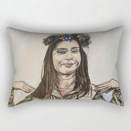 Kacey Rhol, watercolor painting Rectangular Pillow