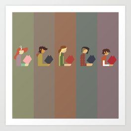 Lumber Ladies Read Art Print