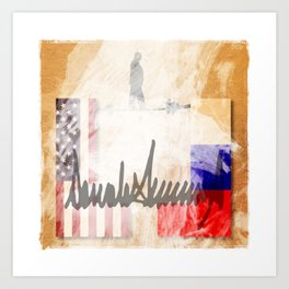 The Trump's Report: No Collusion, No Obstruction. Art Print