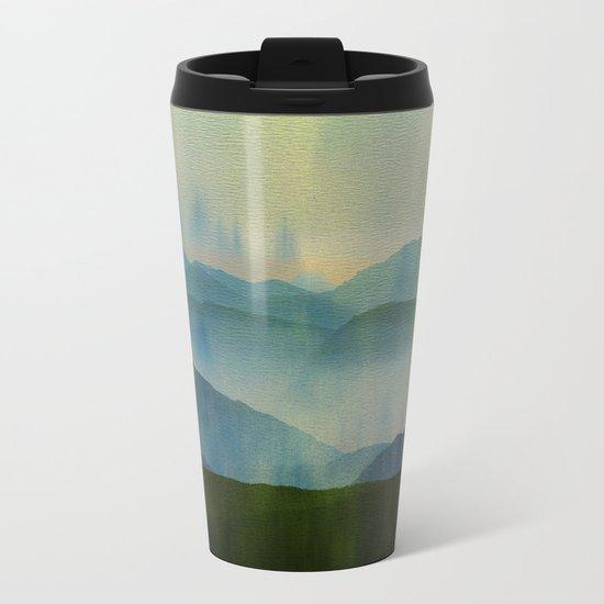 Pine Forest Metal Travel Mug