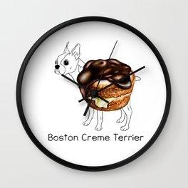 Dog Treats - Boston Creme Terrier Wall Clock