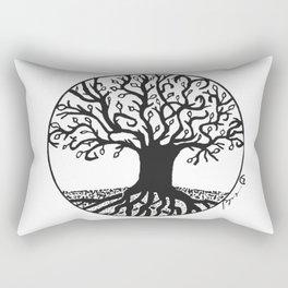 """Tree of Spring"" Hand-Drawn by Dark Mountain Arts Rectangular Pillow"
