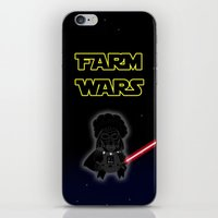 darth iPhone & iPod Skins featuring Darth by Afro Pig