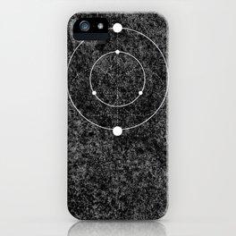 Circle Moon Texture iPhone Case