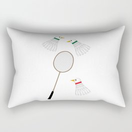 Badminton Cock Shuttles Rectangular Pillow