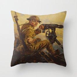 Vintage poster - Bonds Buy Bullets Throw Pillow