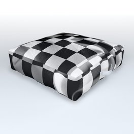 Chequered Flag Outdoor Floor Cushion