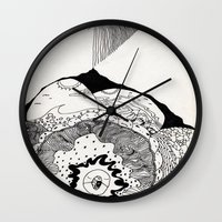 skyfall Wall Clocks featuring skyfall by Kyle Ellsworth