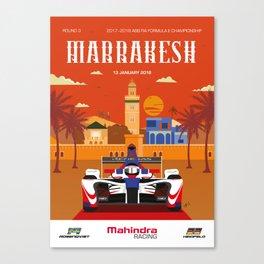 Mahindra Racing FIA Formula E Season 4 Marrakesh E-Prix Poster Canvas Print
