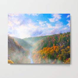 Dawn In Tallulah Gorge - Colorful Fall Landscape Metal Print