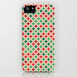 Multicolored Stars Pattern iPhone Case