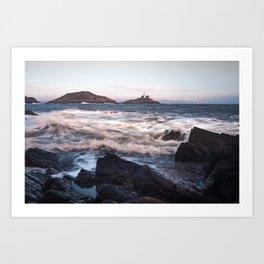 Mumbles lighthouse Gower Art Print