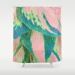 Hosta Multicolor Shower Curtain