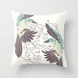 Birds of Summer Throw Pillow
