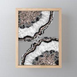 Yin Yang Agate Glitter Glam #9 #gem #decor #art #society6 Framed Mini Art Print