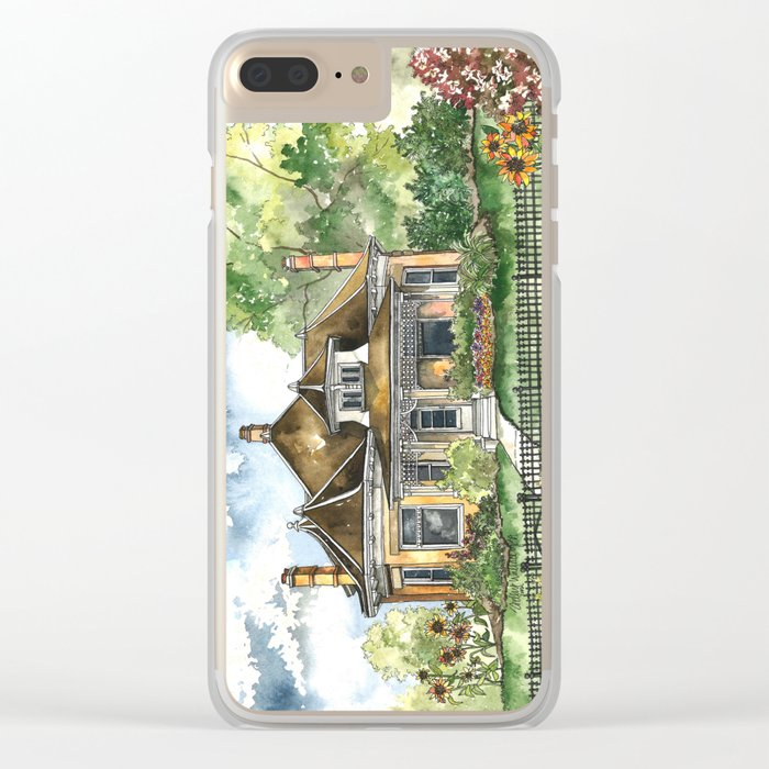 The House on Spring Lane Clear iPhone Case