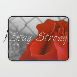 Stay Strong as the Rose Laptop Sleeve