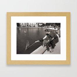 Momma I'm A Sailor! Framed Art Print