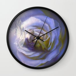 Fairy tale fantasy - purple rose Wall Clock