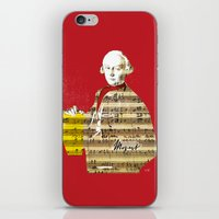 mozart iPhone & iPod Skins featuring Wolfgang Amadeus Mozart by Marko Köppe