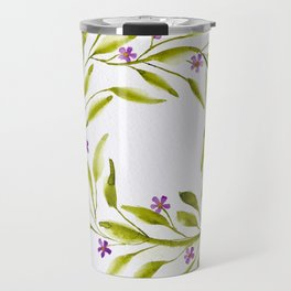 Delicate Flower Wreath Travel Mug