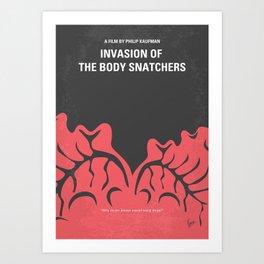 No374 My Invasion of the Body Snatchers minimal movie Art Print